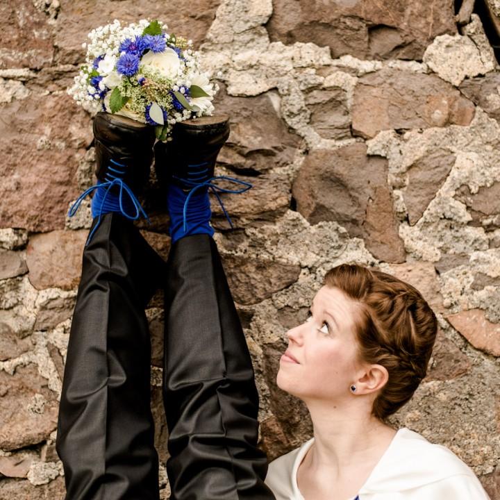 Außergewöhnliche Hochzeit auf Schloss Burgk mit Feier im Marienschacht Bannewitz